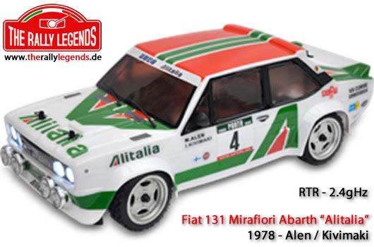 EZpower - Rally Legends - EZRL031 - Car - 1/10 Electric - 4WD Rally - RTR - Fiat 131 Abarth 1978 Alitalia with lights