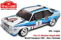 Car - 1/10 Electric - 4WD Rally - RTR - 2.4gHz - Fiat 131 Abarth 1981 WRC with lights