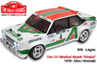 Car - 1/10 Electric - 4WD Rally - RTR - 2.4gHz - Fiat 131 Abarth 1978 Alitalia with lights