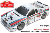 Car - 1/10 Electric - 4WD Rally - RTR - 2.4gHz - Lancia 037 Rohrl Martini 1983