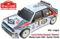 Car - 1/10 Electric - 4WD Rally - RTR - 2.4gHz - Lancia Delta 4WD EVO2 integrale