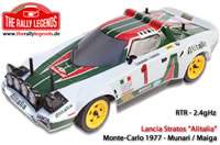 Car - 1/10 Electric - 4WD Rally - RTR - 2.4gHz - Lancia Stratos Alitalia Munari 1977