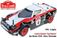Car - 1/10 Electric - 4WD Rally - RTR - 2.4gHz - Lancia Stratos Montecarlo 78 Alen