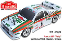 Car - 1/10 Electric - 4WD Rally - RTR - 2.4gHz - Lancia 037 European Champion 1984 Biasion