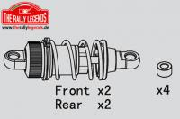 Replacement Part - Rally Legends - Short Shocks Set (Plastic) for Touring/Drift (4 pcs)