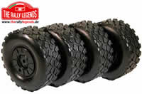 Tires - 1/10 Rally Truck - Mounted on wheels - Iveco Trakker Set (4)
