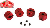 Replacement Part - Rally Legends - Red Hex Adapters - Wider (4 pcs)