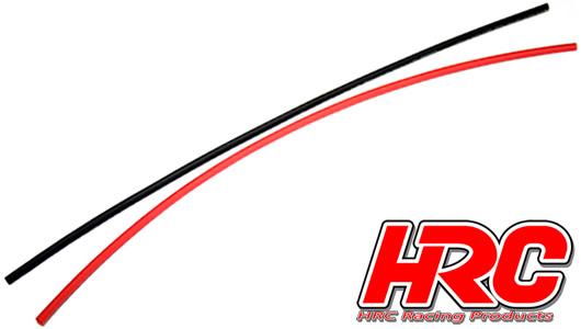 HRC Racing - HRC5111 - Guaina termoretraibile -  2mm - Rosso and Nero (250mm ogni)