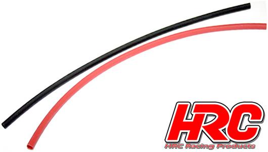 HRC Racing - HRC5131 - Guaina termoretraibile -  4mm - Rosso and Nero (250mm ogni)