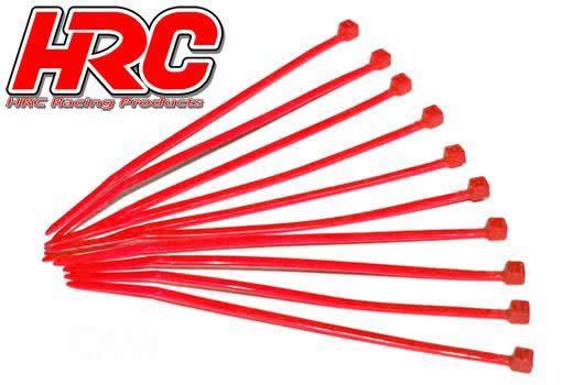 HRC Racing - HRC5021RE - Fascette - Piccole (100mm) - Rosso (10 pzi)