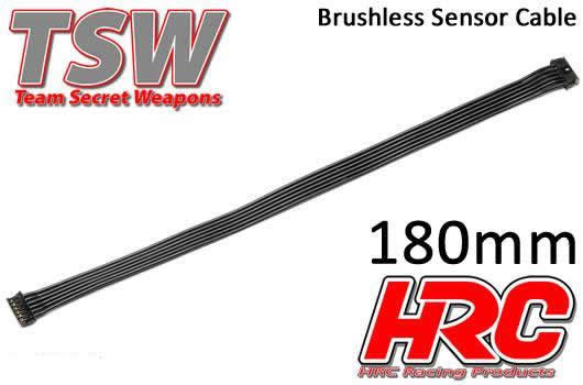 HRC Racing - HRC5701H - Cavo piatto di sensore Brushless - TSW Pro Racing - 180mm