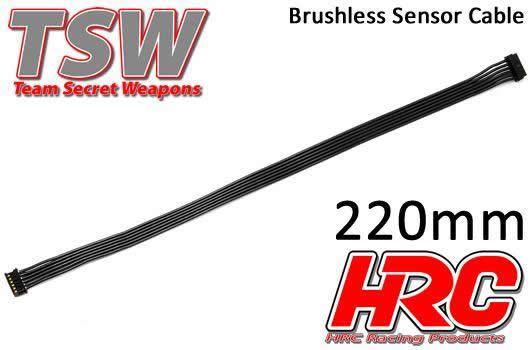 HRC Racing - HRC5701K - Cavo piatto di sensore Brushless - TSW Pro Racing - 220mm