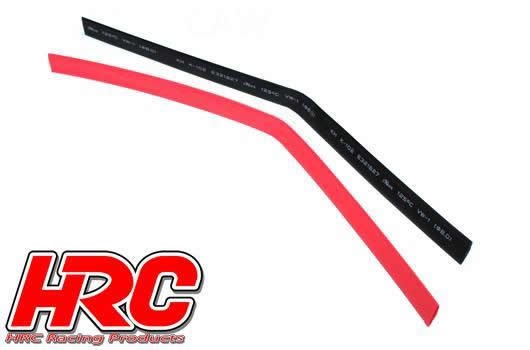 HRC Racing - HRC5152 - Guaina termoretraibile -  8mm - Rosso and Nero (250mm ogni)