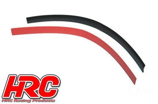 HRC Racing - HRC5153 - Guaina termoretraibile - 10mm - Rosso and Nero (250mm ogni)