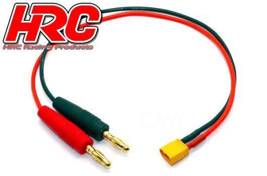 HRC Racing - HRC9103 - Charger Lead - Gold - Banana Plug to XT30 Battery Plug