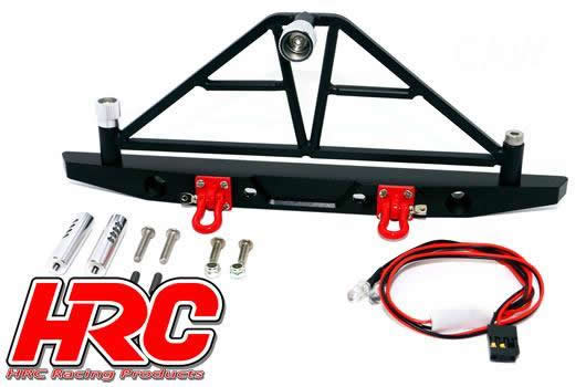 HRC Racing - HRC25165D - Body Parts - 1/10 Scale Accessory - Aluminum - Bumper with LED - Type D (rear)