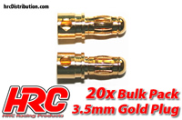 Connector - Gold - 3.5mm - Male (20 pcs)