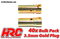 Connector - Gold - 3.5mm - Female (40 pcs)