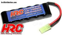 Battery - 6 cells - HRC 1600 - RC Car Micro - NiMH - 7.2V 1600mAh - Mini Tamiya plug side by side
