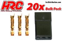 Connettori - Gold - Servo - JR Connettori - Maschi - BULK 20 pzi