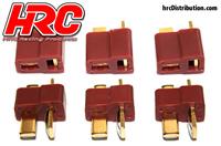 Connector - Gold - Ultra T Plug - Male & Female (3 pcs each)