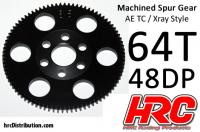 Spur Gear - 48DP - Low Friction Machined Delrin - Xray/AE/TM Style -  64T
