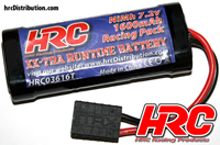 Battery - 6 cells - HRC 1600 - RC Car Micro - NiMH - 7.2V 1600mAh - TRX plug