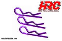 Body Clips - 1/10 - short - small head - Purple (10 pcs)