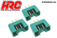 Connector - Gold - MPX - Male (3 pcs)
