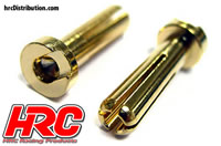 Connector - Gold - TSW Pro Racing - 4.0mm - Male Low Profile (2 pcs)