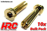 Connector - Gold - 4mm - Male Low Profile (10 pcs)