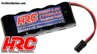 Battery - 5 cells - HRC 1700 - Receiver pack - NiMH - 6V 1700mAh - flat - UNI Plug