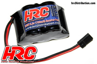 Battery - 5 cells - HRC 1700 - Receiver pack - NiMH - 6V 1700mAh - hump - UNI Plug