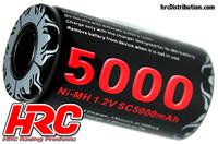 Battery - 1 cell - NiMH - 1.2V 5000mAh