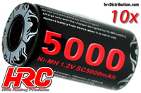 Battery - 1 cell - NiMH - 1.2V 5000mAh (10 pcs Bulk Pack)