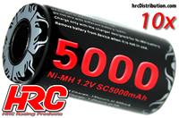 Battery - 1 cell - NiMH - 1.2V 5000mAh (10 pcs Bulk Pack)