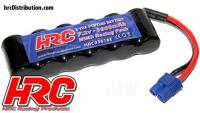 Battery - 6 cells - HRC 1600 - RC Car Micro - NiMH - 7.2V 1600mAh - EC3 plug side by side