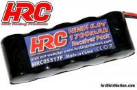 Battery - 5 cells - HRC 1700 - Receiver pack - NiMH - 6V 1700mAh - flat - BEC Plug