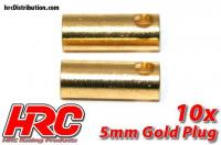 Connector - Gold - 5.0mm - Female (10 pcs)