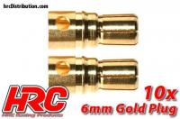 Connector - Gold - 6.0mm - Male (10 pcs)