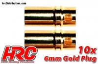 Connector - Gold - 6.0mm - Female (10 pcs)