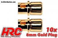 Connector - Gold - 8.0mm - Male (10 pcs)