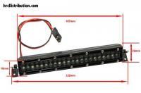 Set d'éclairage - 1/10 ou Monster Truck - LED - Prise JR - Block de toit Multi-LED - 44 LEDs Blanc