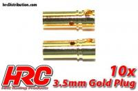 Connector - Gold - 3.5mm - Female (10 pcs)