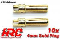 Connector - Gold - 4.0mm - Male (10 pcs)