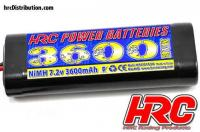 Battery - 6 cells - HRC Power Batteries 3600 - NiMH - 7.2V 3600mAh - Stick - Ultra T Plug