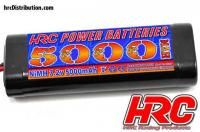 Battery - 6 cells - HRC Power Batteries 5000 - NiMH - 7.2V 5000mAh - Stick - Ultra T Plug