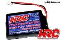 Battery - 6 cells - HRC 1600 - HPI Micro RS4 - NiMH - 7.2V 1600mAh - Molex Micro plug