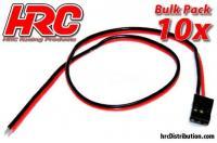 Cavo di accumulatore - UNI (FUT & JR) tipo -  30cm Lungo - BULK 10 pzi