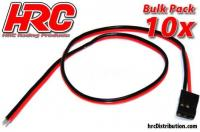 Cavo di accumulatore - JR tipo -  30cm Lungo - BULK 10 pzi